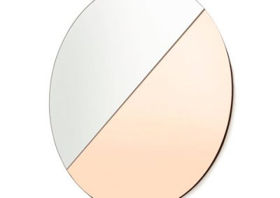 Two Tone Tinted Mirror - Rose Gold & Clear $12