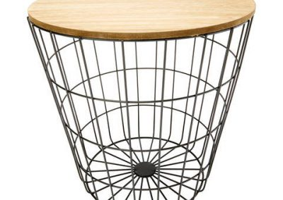 Storage Wire Basket Table - Natural & Black $19.00