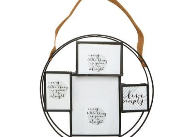 Round Collage Frame With Strap $15.00