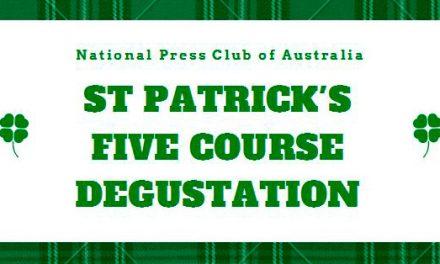 St Patrick's Five Course Degustation