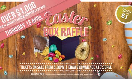 Easter Box Raffle: Ainslie Football & Social Club