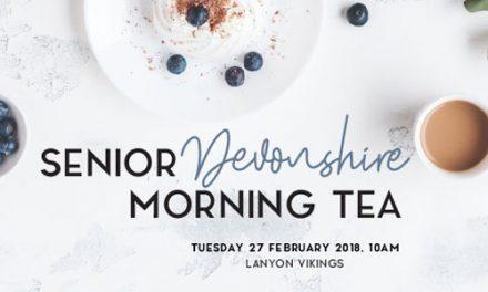Seniors Devonshire tea
