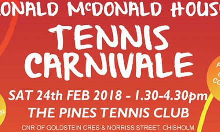 Pines Tennis Club rally to raise funds for charity