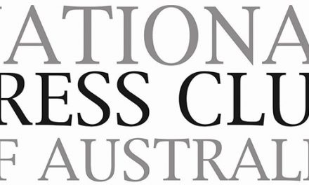Rachael Thoms & Lachlan Coventry At The National Press Club of Australia