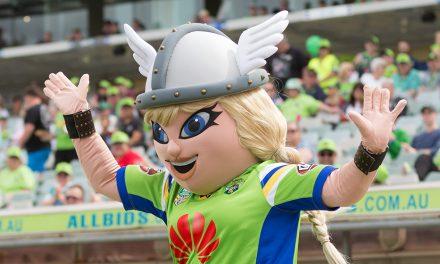 Meet Canberra Raiders new mascot Velda the Valkyrie