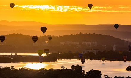 Take a hot air balloon over Canberra