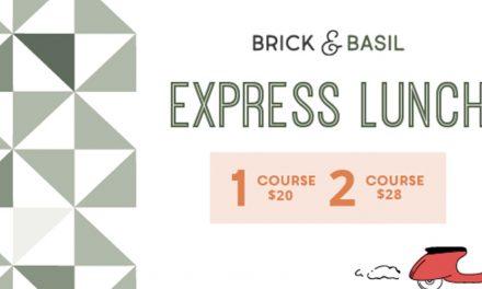 Express Lunch Wed – Fri at Brick & Basil