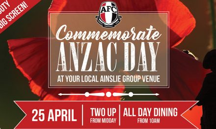 Anzac Day at Ainslie Football Club