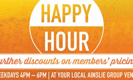 Happy Hour Every Weekday at Ainslie Football Club