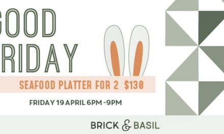 Good Friday seafood platter at Brick & Basil