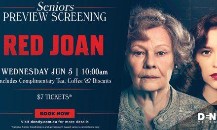 Red Joan Seniors Preview at Dendy Cinema