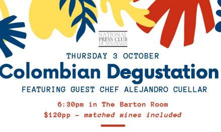 Columbian Degustation at National Press Club
